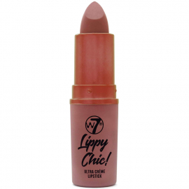 Rouge à lèvre en tube Lippy chic en teinte nude marron Gossip de W7.