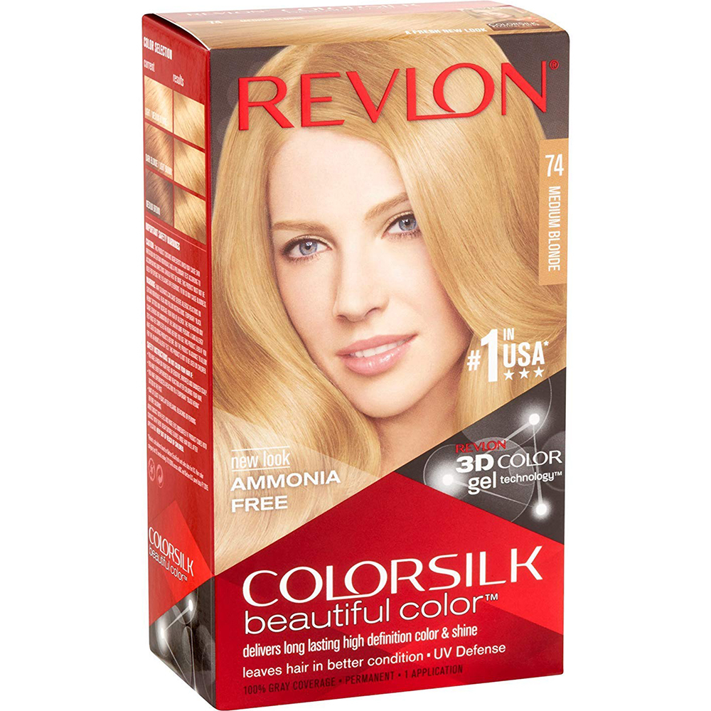 Coloration cheveux Colorsilk - 74 blond moyen - Revlon