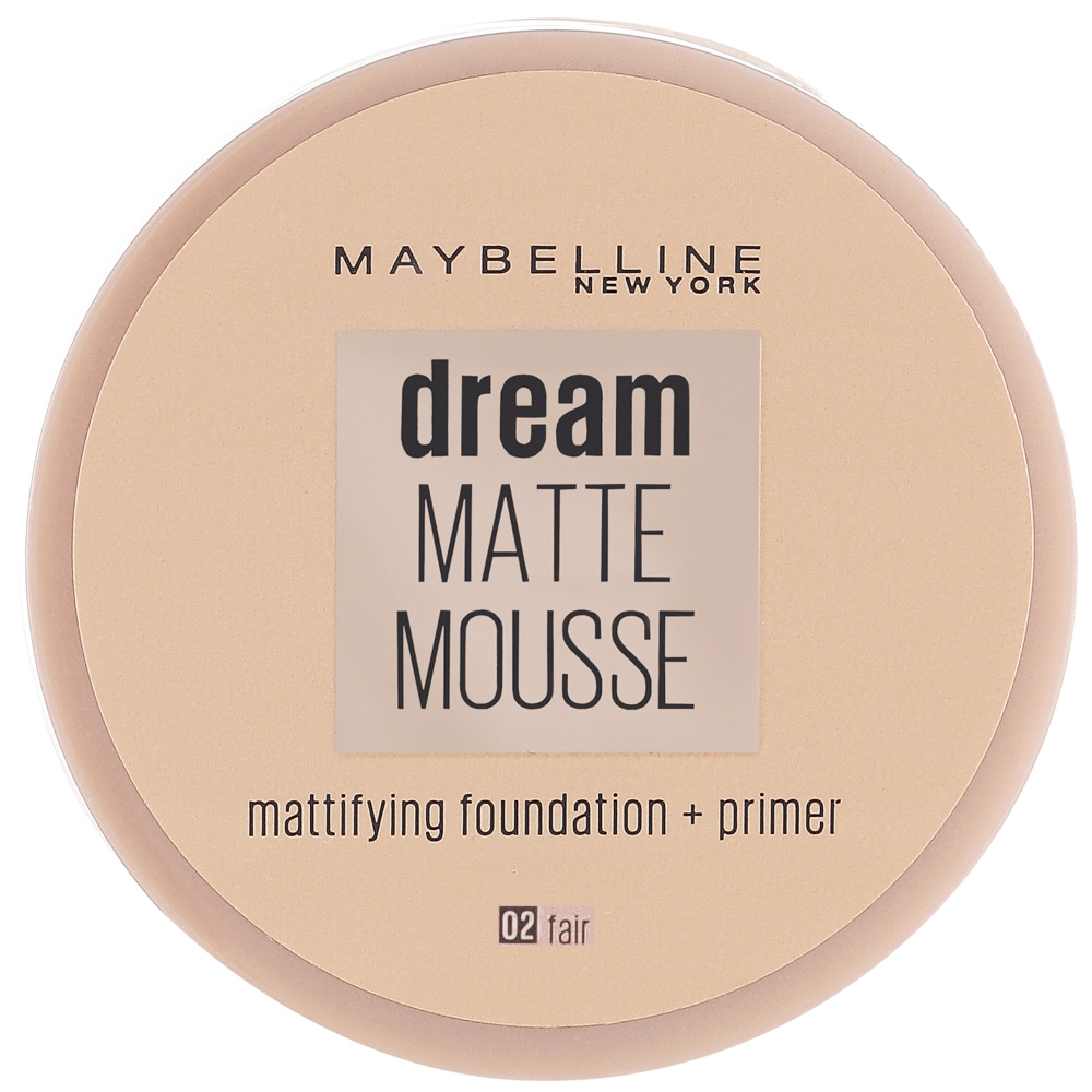 Fond de teint Dream matte mousse – 02 Fair beige