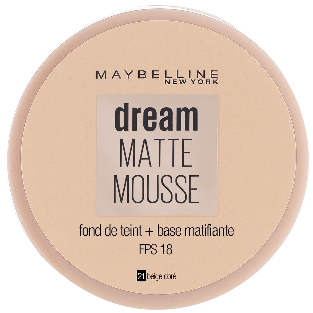 Fond de teint Dream Matte Mousse - 21 Beige doré