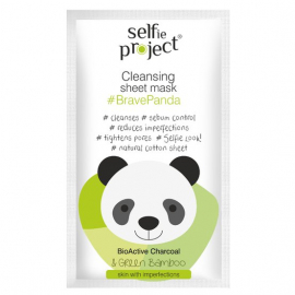 Masque en tissu nettoyant panda