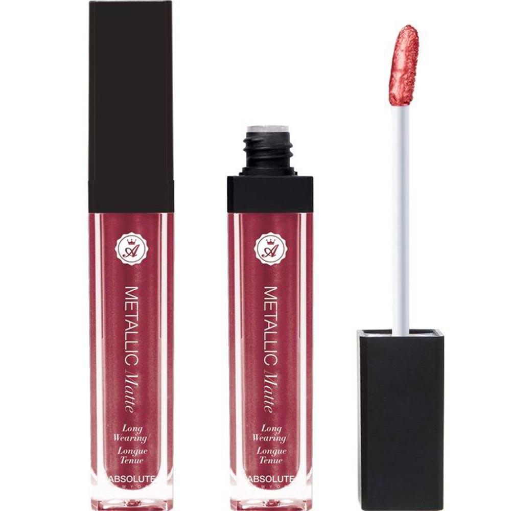 Rouge à lèvres liquide Metallic matte - AMLM08 Rumble Red Absolute new york