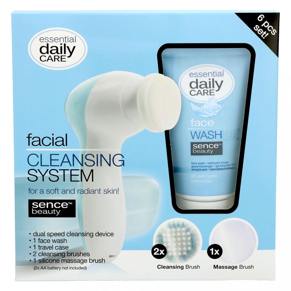Coffret brosse nettoyante et gel nettoyant pour le visage sence