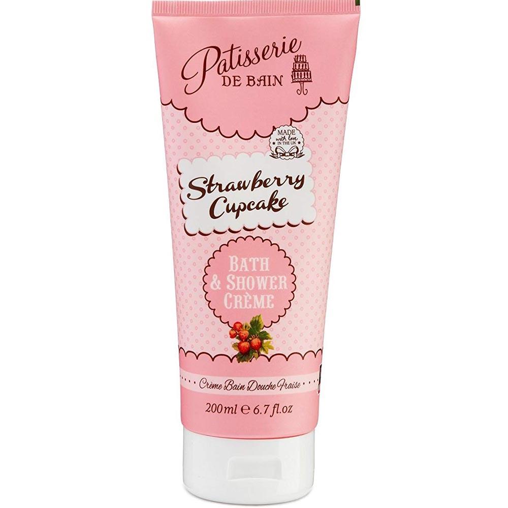 Crème bain douche - Cupcake fraise - Pâtisserie de bain