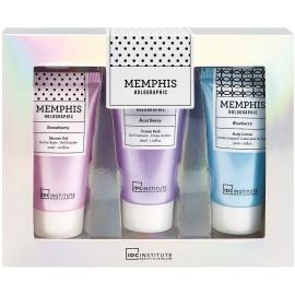Box Memphis holographic Gel douche + crème + lotion