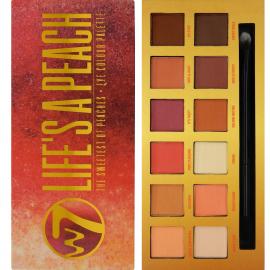 Palette 12 fards à paupières mattes aux couleurs chaudes - Life's A Peach de W7.