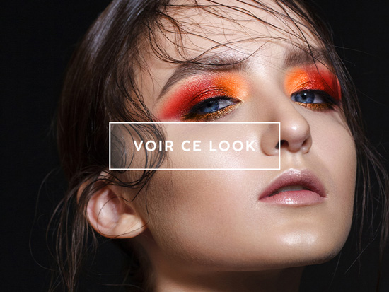 lookbook maquillage orange