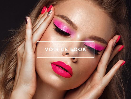 lookbook maquillage punchy pink