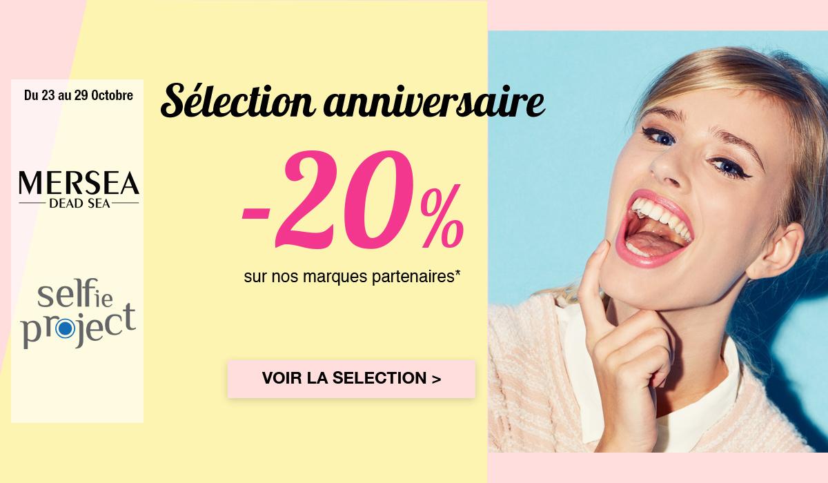 sélection anniversaire à -20%