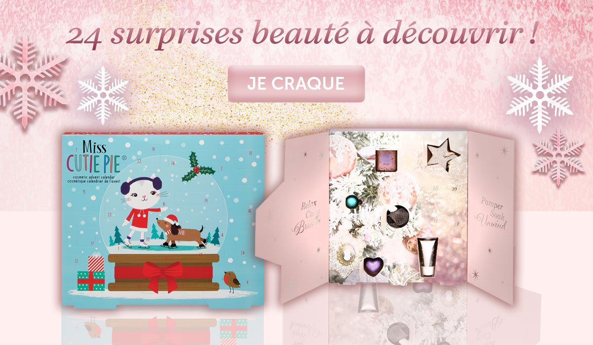 slider home mobile saga cosmetics lancement calendriers de l'avent maquillage et soin