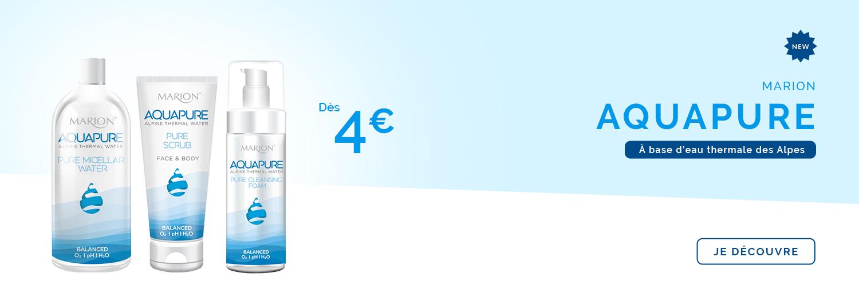 slider home desktop saga cosmetics nouveautés Aquapure