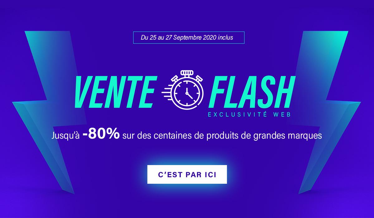 slider mobile vente flash rentrée du 25 au 27 septembre 2020