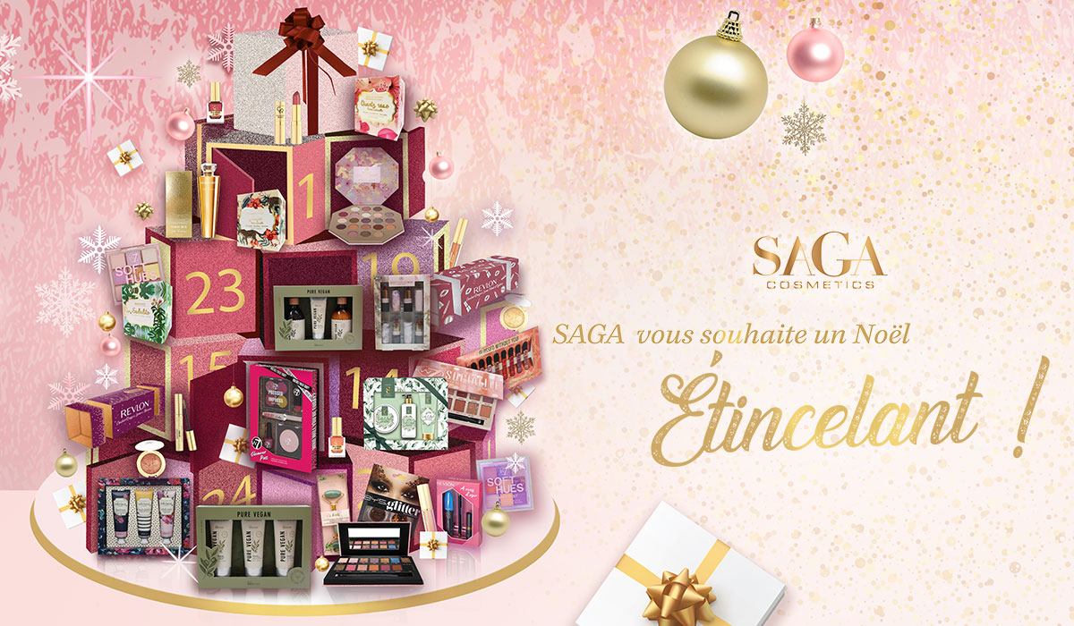 slider home mobile saga cosmetics lancement boutique de Noël